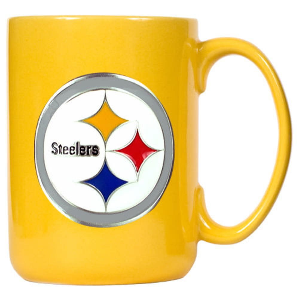 PITTSGURGH STEELERS 3D Metal Emblem Mug - YELLOW