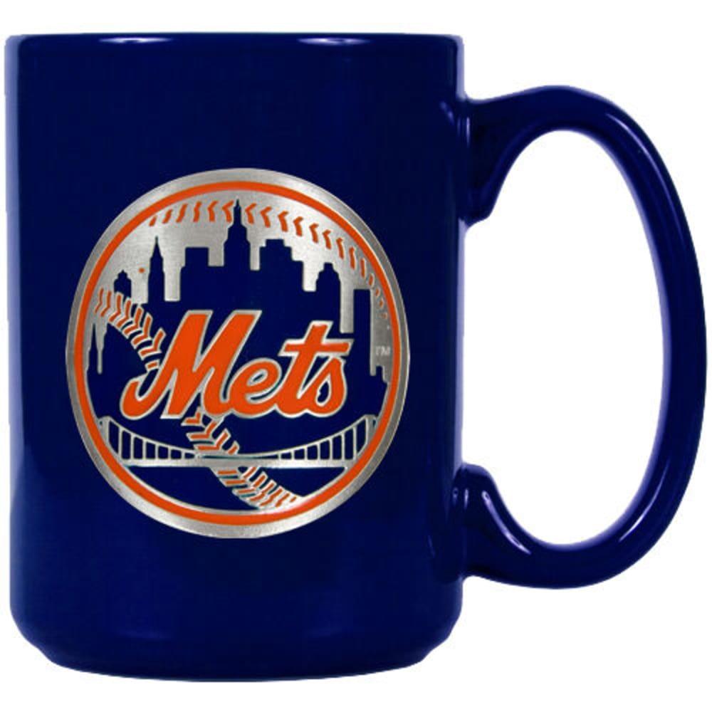 NEW YORK METS 3D Metal Emblem Mug - ROYAL BLUE