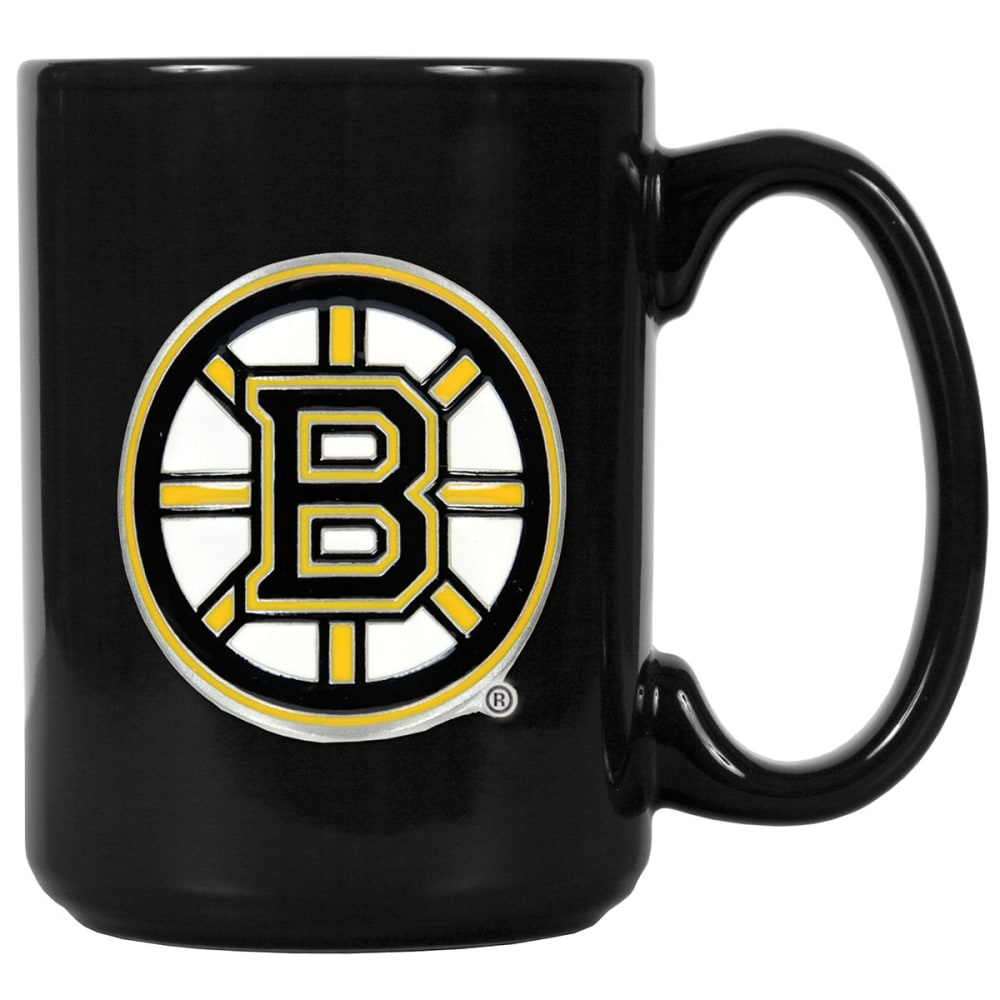 BOSTON BRUINS 3D Metal Emblem Mug - BLACK