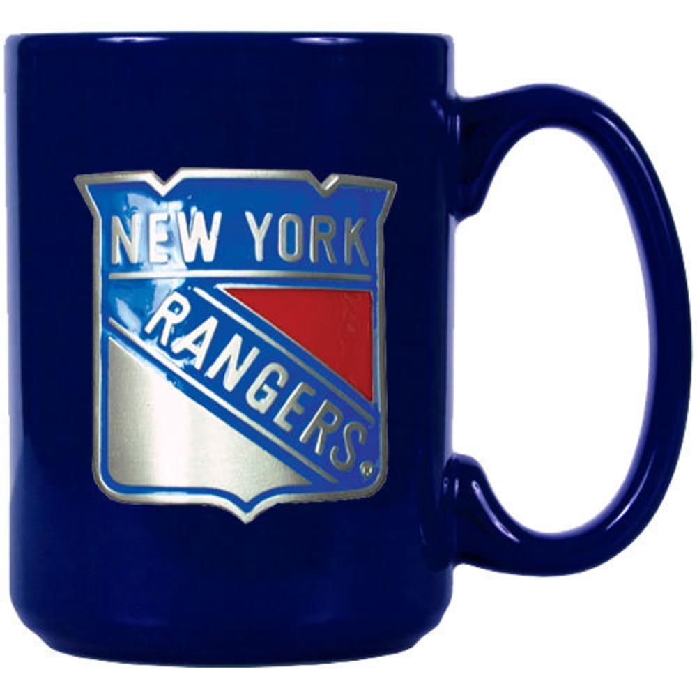 NEW YORK RANGERS 3D Metal Emblem Mug - ROYAL BLUE