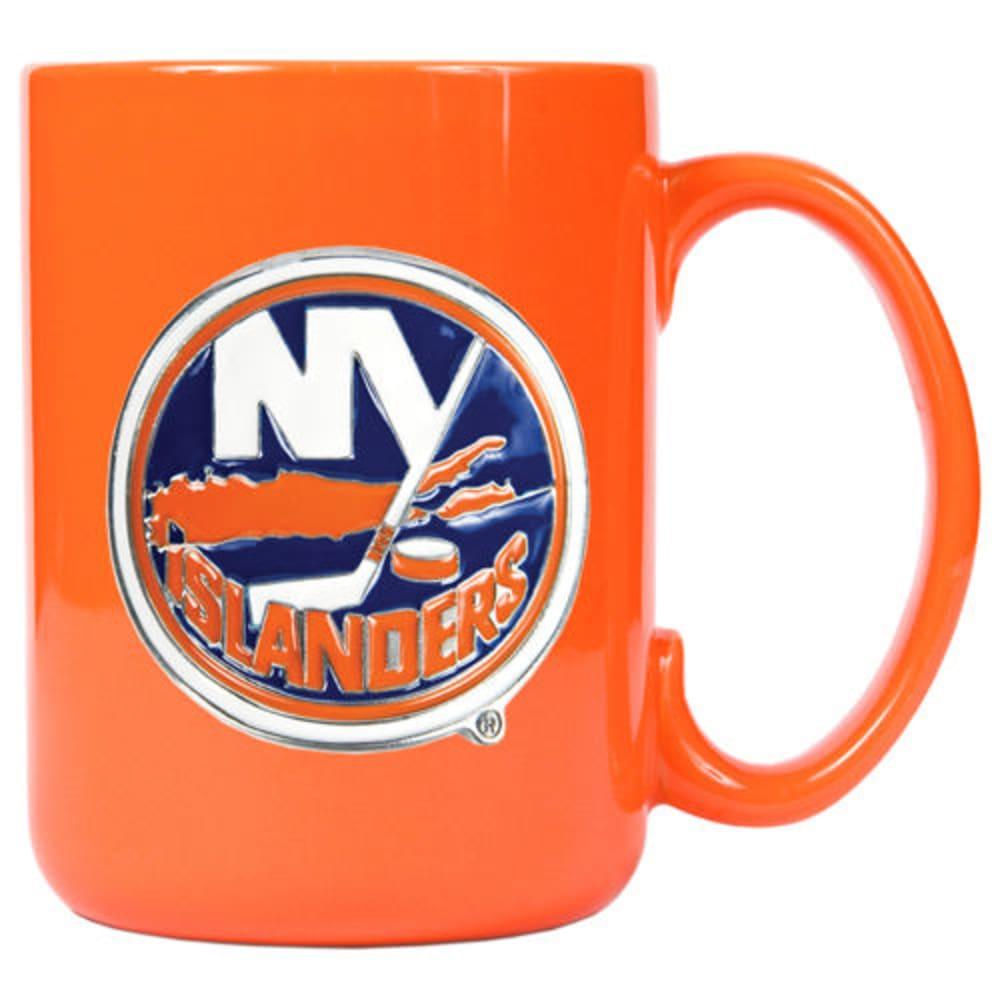 NEW YORK ISLANDERS 3D Metal Emblem Mug - ORANGE