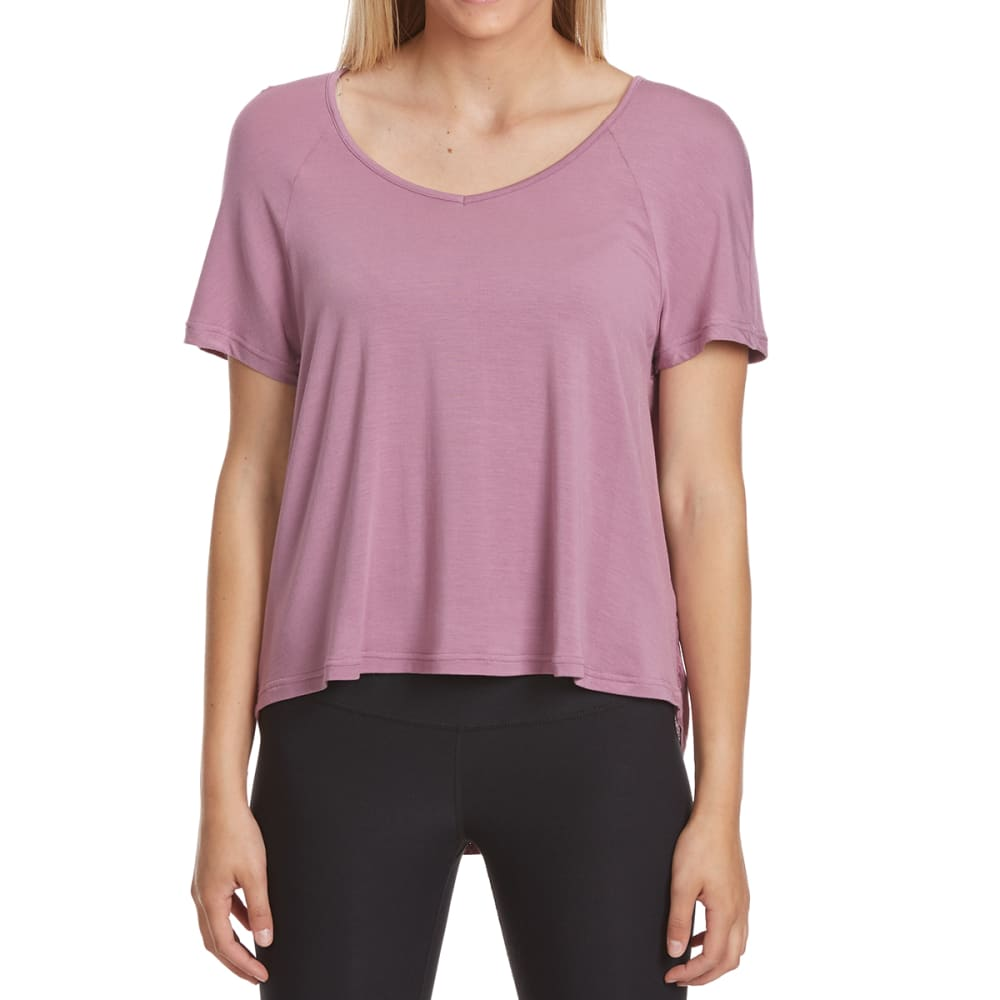 Crimson In Grace Women's Dolman Knit Short-Sleeve Top - Purple, S