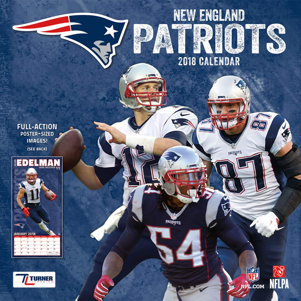NEW ENGLAND PATRIOTS 2018 12 x 12 in. Team Wall Calendar - NO COLOR