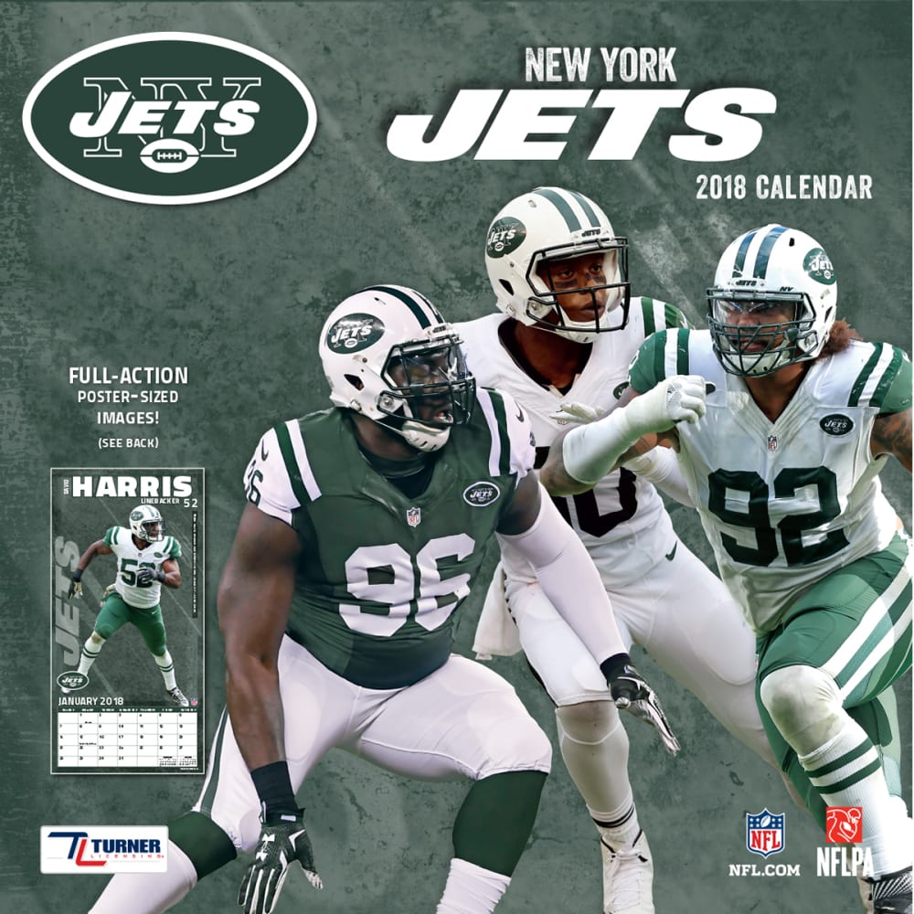 NEW YORK JETS 2018 12 x 12 in. Team Wall Calendar - NO COLOR