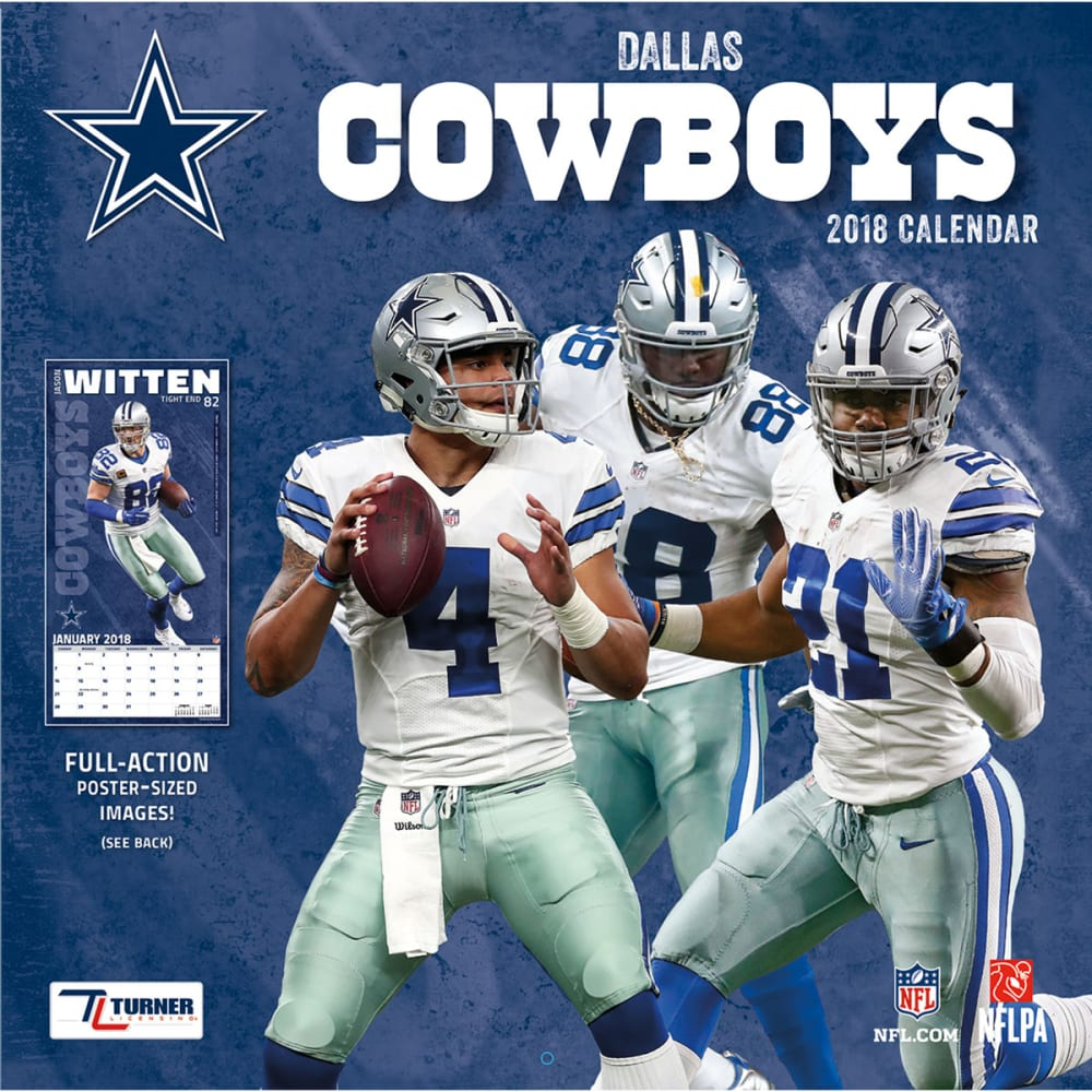 DALLAS COWBOYS 2018 Wall Calendar - NO COLOR