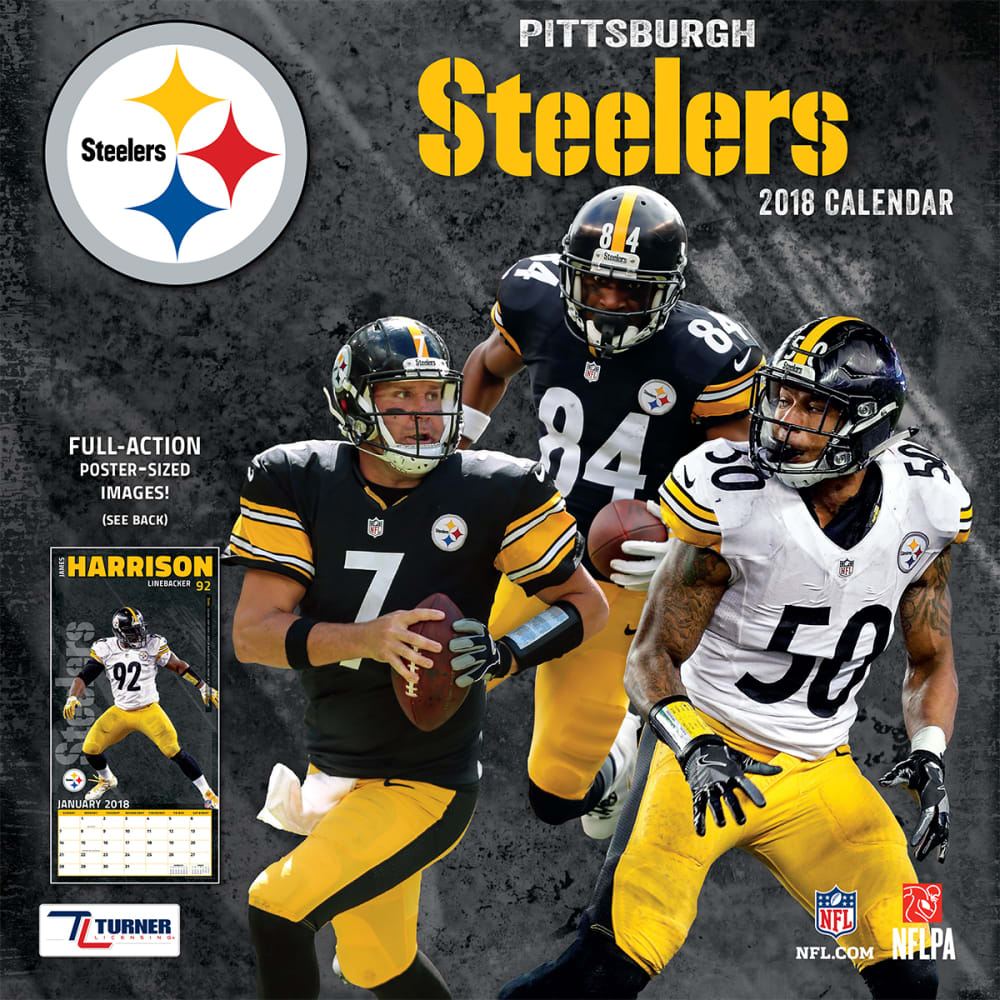PITTSBURGH STEELERS 2018 Wall Calendar - NO COLOR