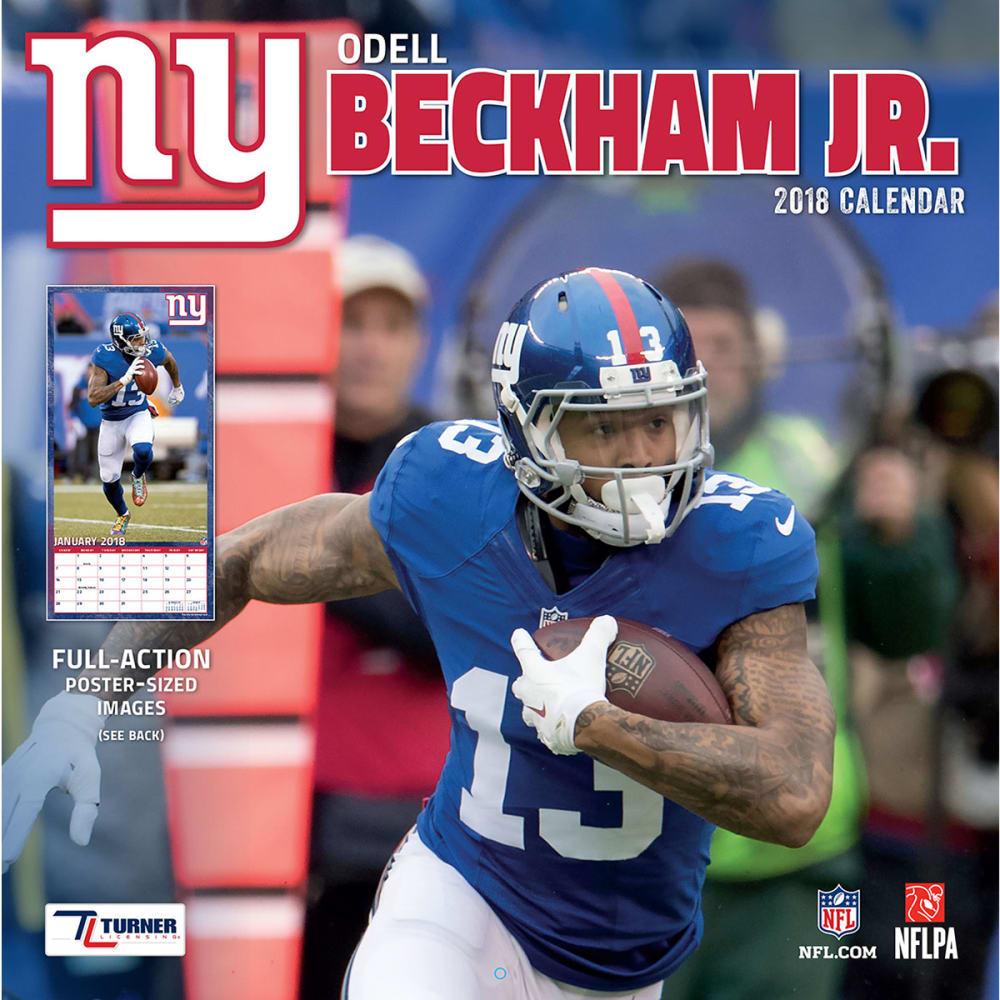 NEW YORK GIANTS Odell Beckham Jr. 2018 Wall Calendar - NO COLOR
