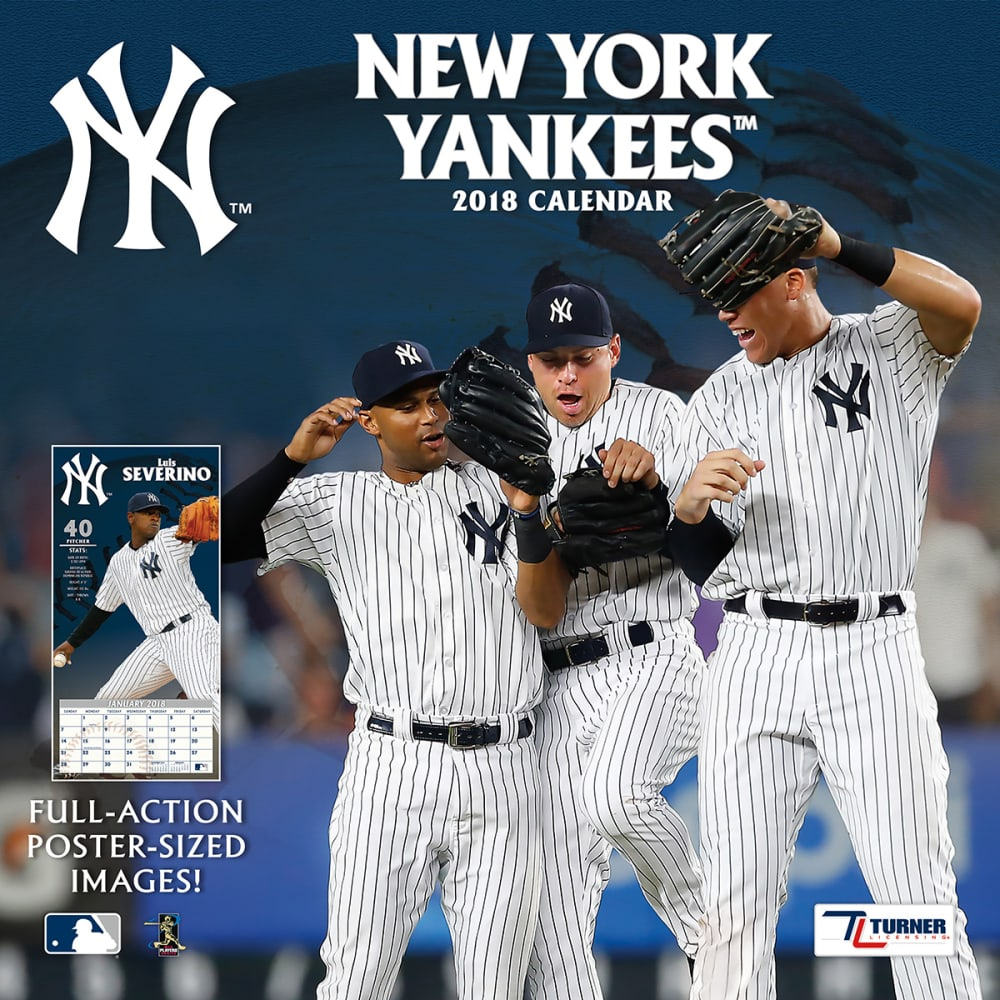 NEW YORK YANKEES 2018 12 x 12 in. Team Wall Calendar - NO COLOR