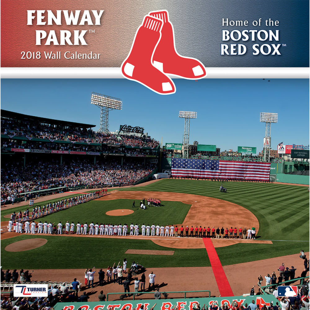BOSTON RED SOX 2018 12 x 12 in. Fenway Park Stadium Wall Calendar - NO COLOR