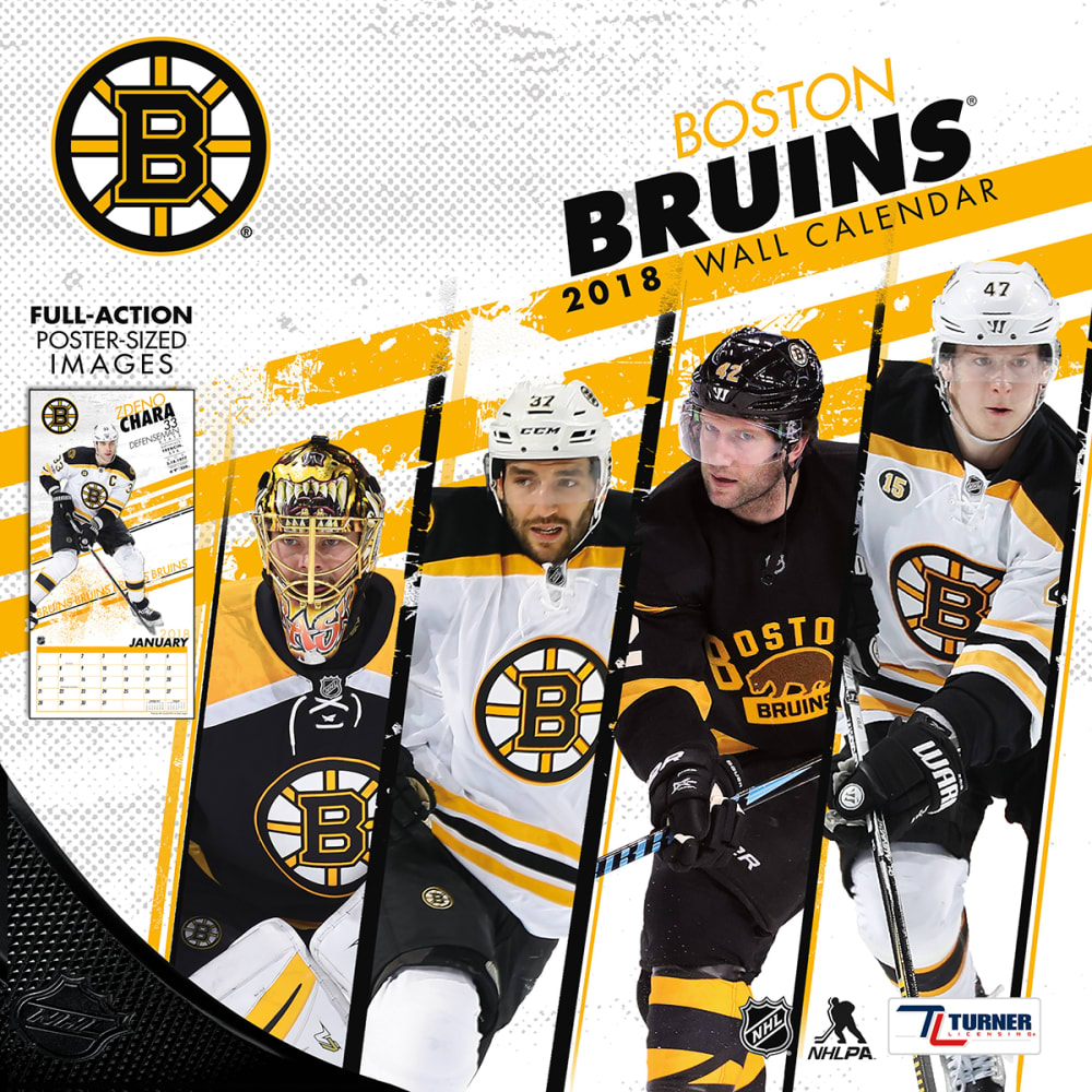BOSTON BRUINS 2018 12 x 12 in. Team Wall Calendar - NO COLOR