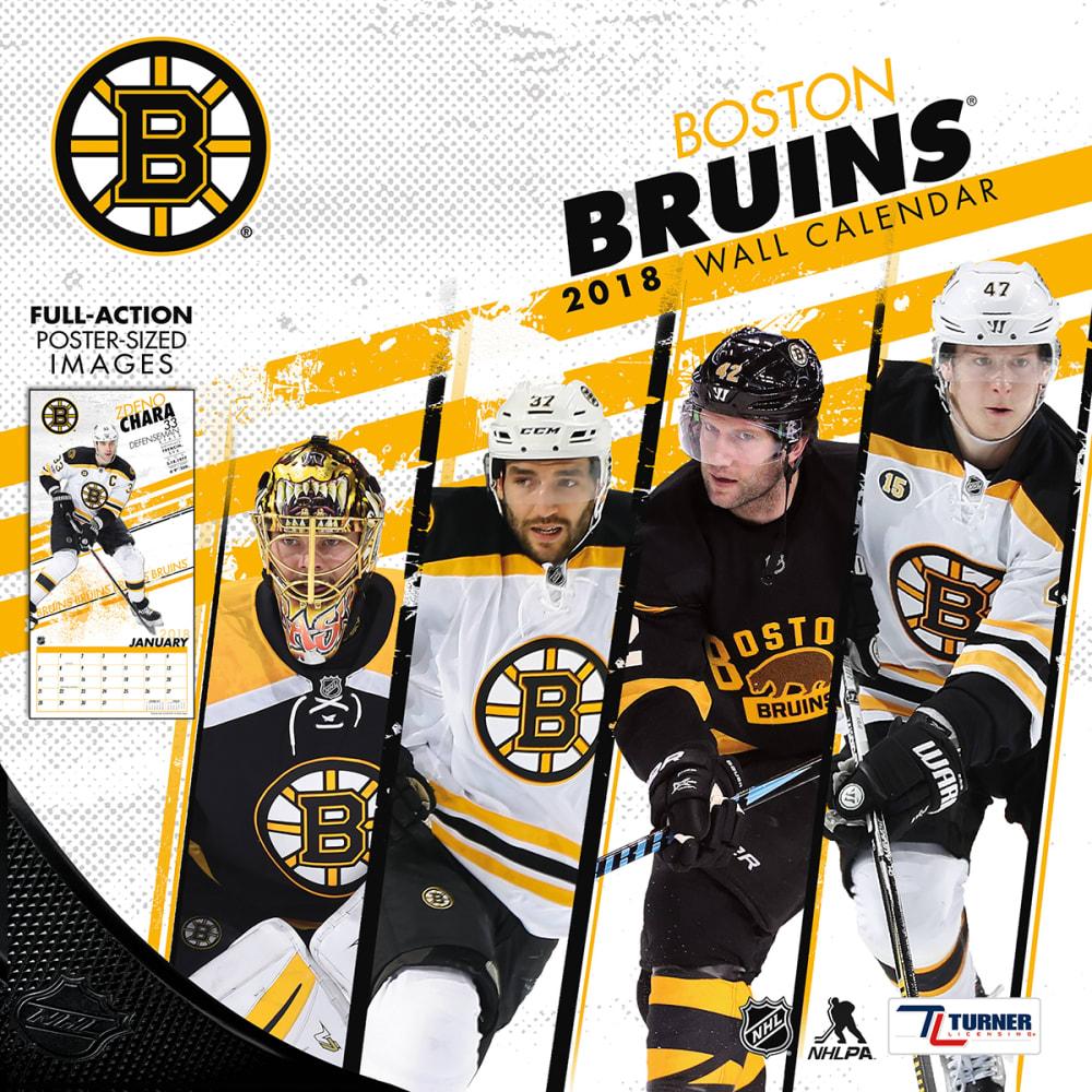 BOSTON BRUINS 2018 12 x 12 in. Team Wall Calendar - NO COLOR