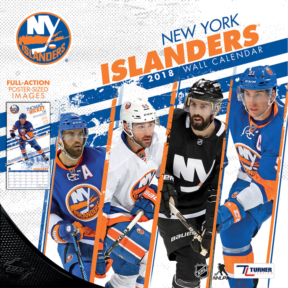 NEW YORK ISLANDERS 2018 Wall Calendar - NO COLOR