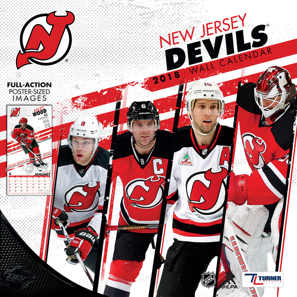 NEW JERSEY DEVILS 2018 Wall Calendar - NO COLOR