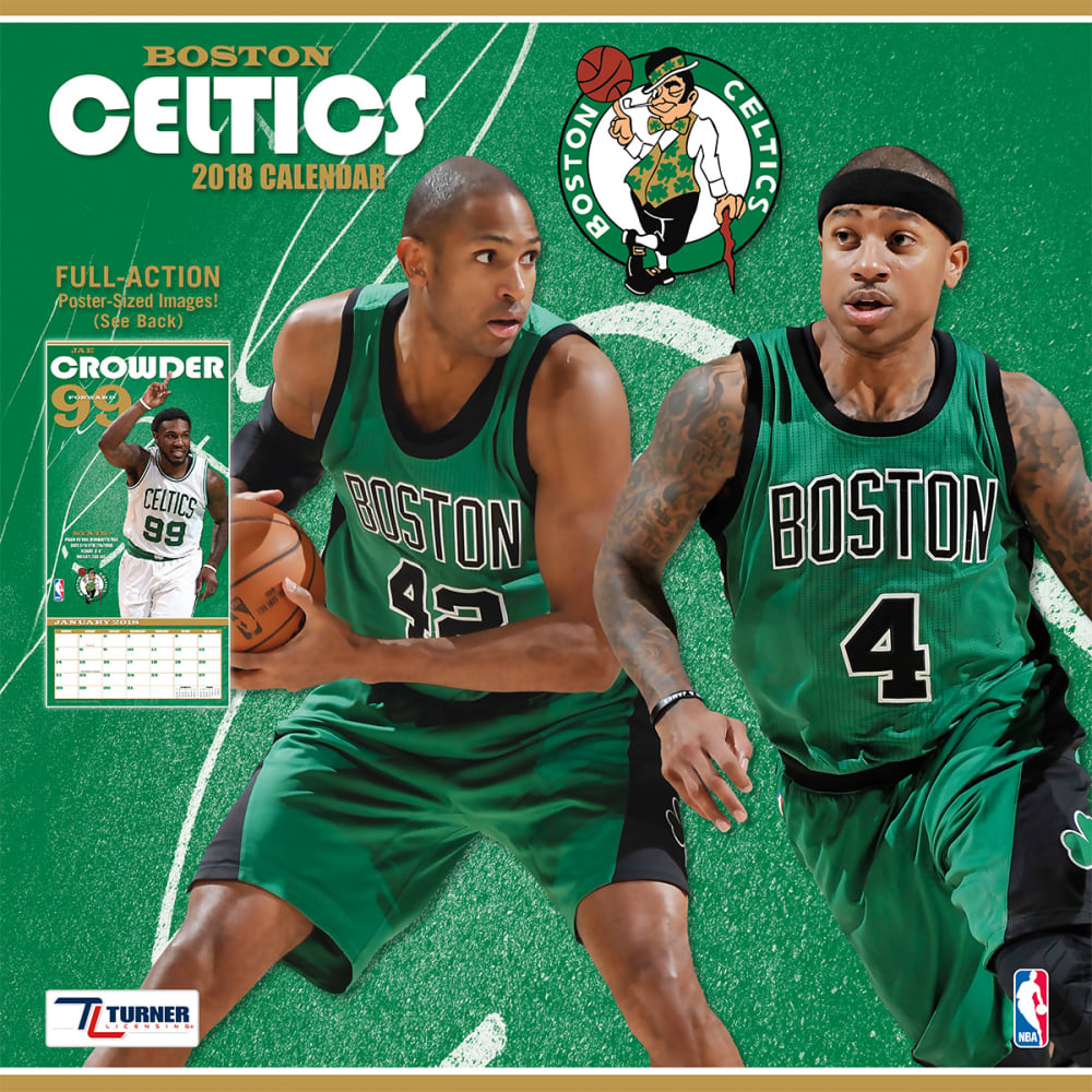 BOSTON CELTICS 2018 Wall Calendar - NO COLOR