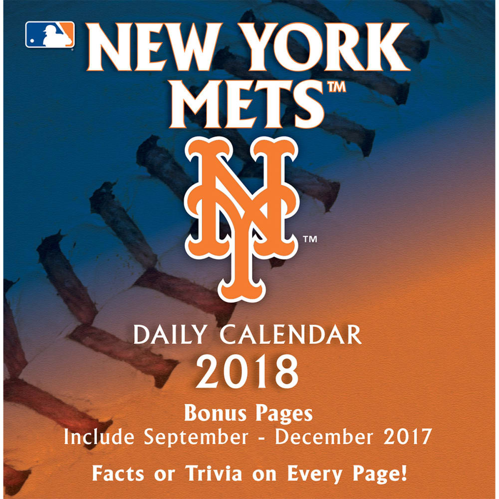 NEW YORK METS 2018 Daily Box Calendar - NO COLOR