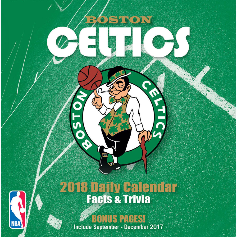 BOSTON CELTICS 2018 Daily Box Calendar - NO COLOR