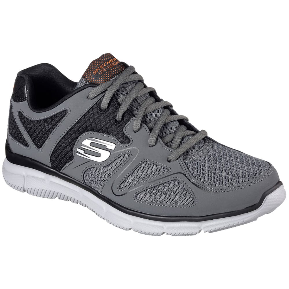 SKECHERS Men's Satisfaction- Flash Point - CHARCOAL CCOR