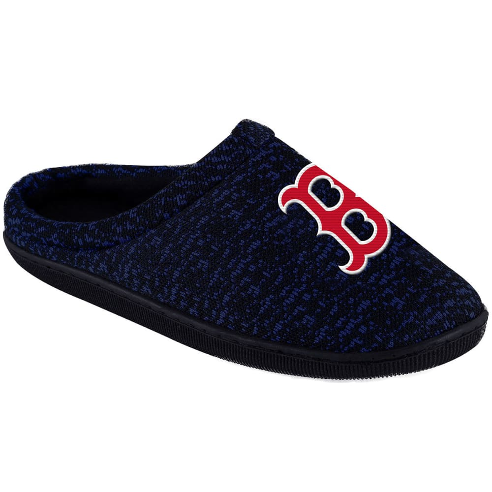 BOSTON RED SOX Men's Poly Knit Cup Sole Slippers - NAVY