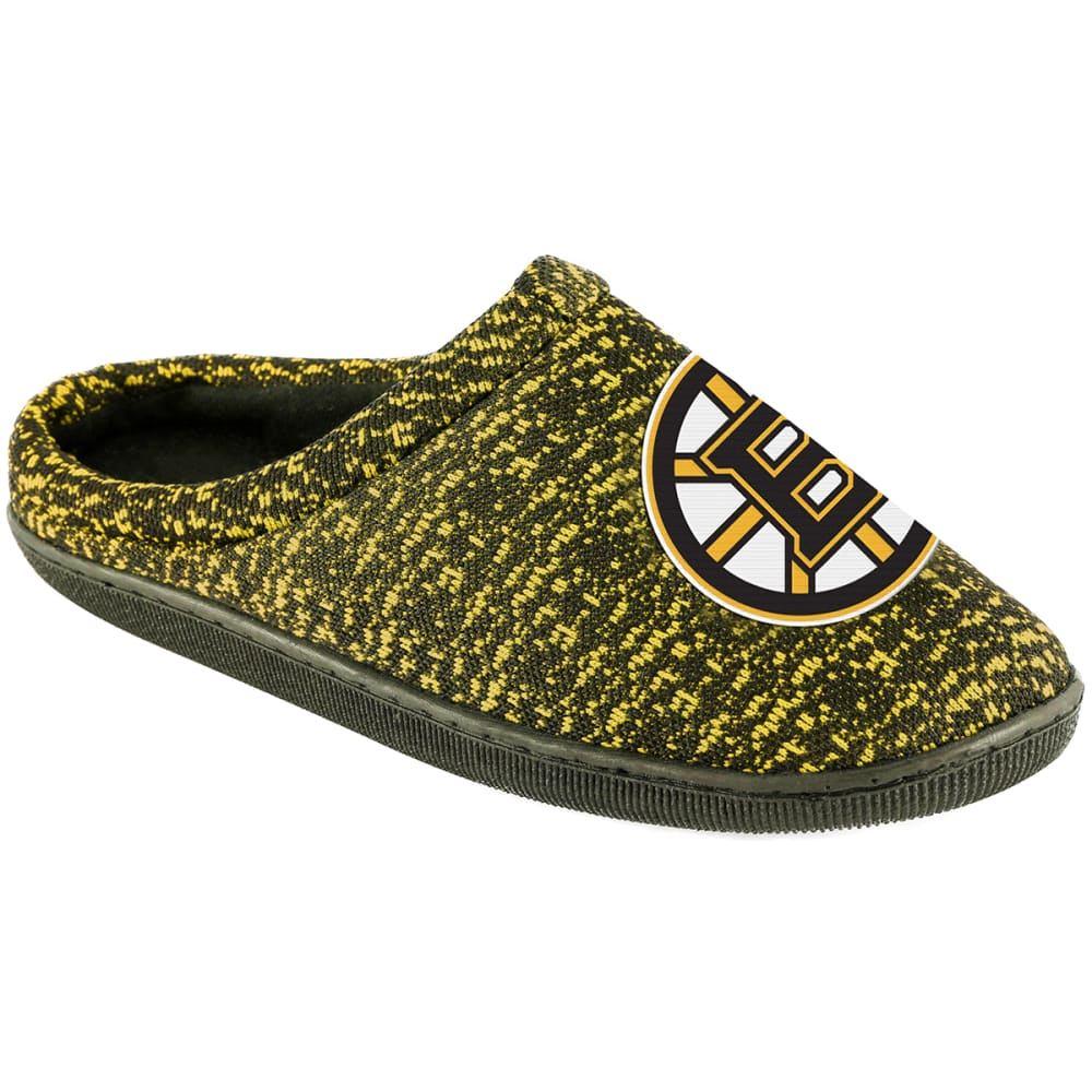 BOSTON BRUINS Poly Knit Cupsole Slide Slippers - BLACK