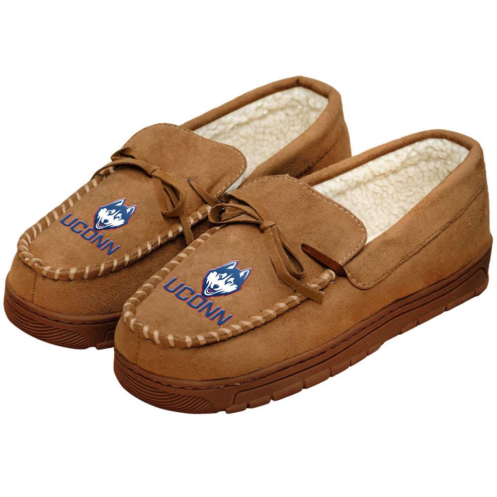 UCONN Men's Moccasin Slippers - NAVY