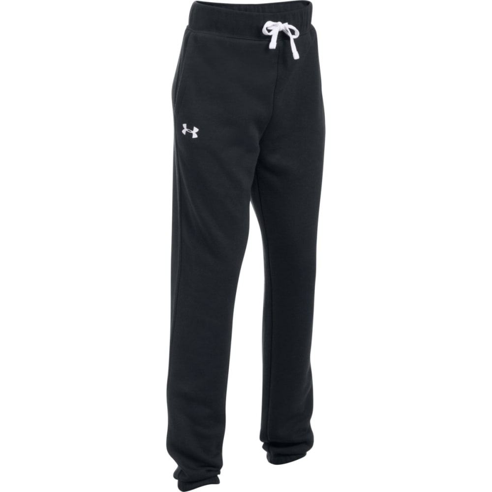 UNDER ARMOUR Big Girls' UA Favorite Fleece Jogger Pants - 001- BLACK/WHITE