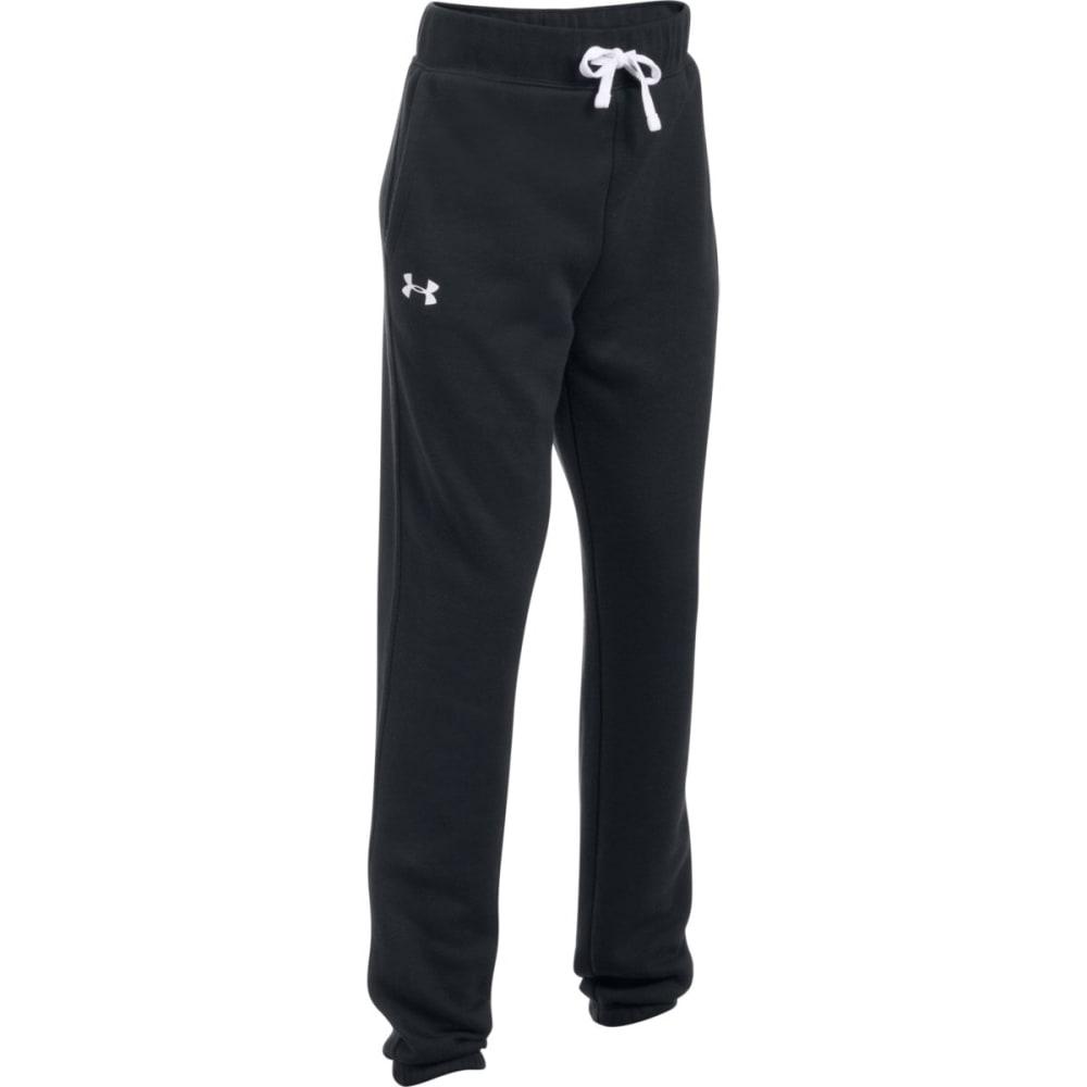 UNDER ARMOUR Big Girls' UA Favorite Fleece Jogger Pants - 001- BLACK/WHITE
