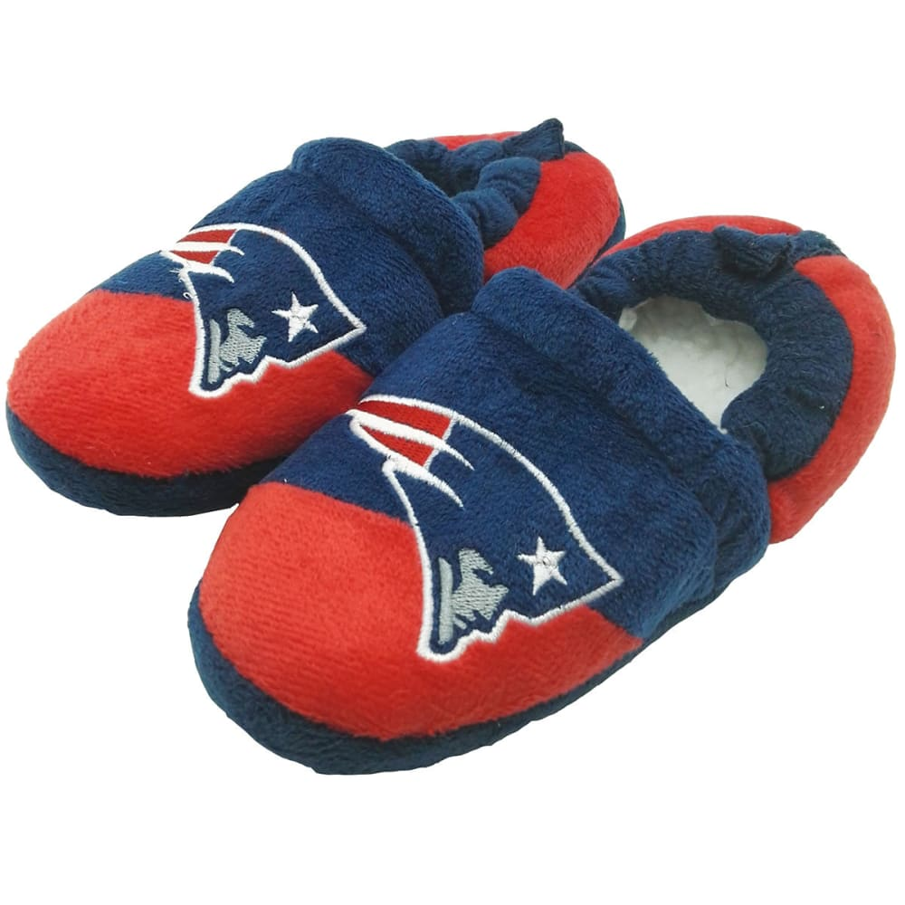 NEW ENGLAND PATRIOTS Big Kids' Closed-Back Color-Block Slippers - NAVY