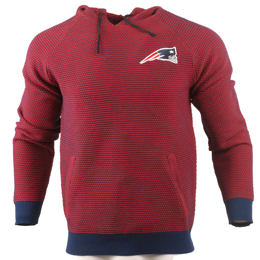 NEW ENGLAND PATRIOTS Men's Poly Knit Team Color Hoodie - GREY