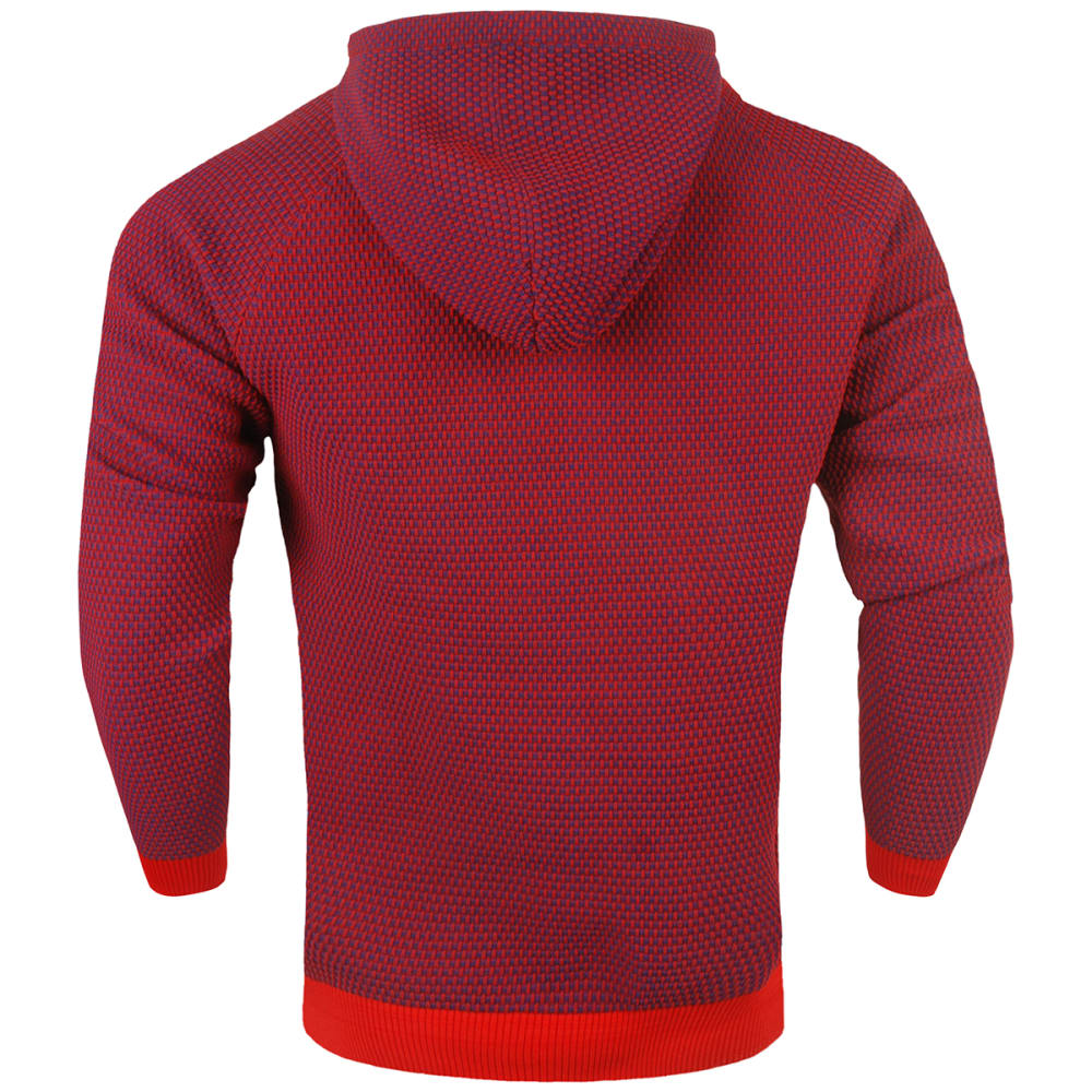 NEW YORK GIANTS Men's Poly Knit Team Color Hoodie - RED