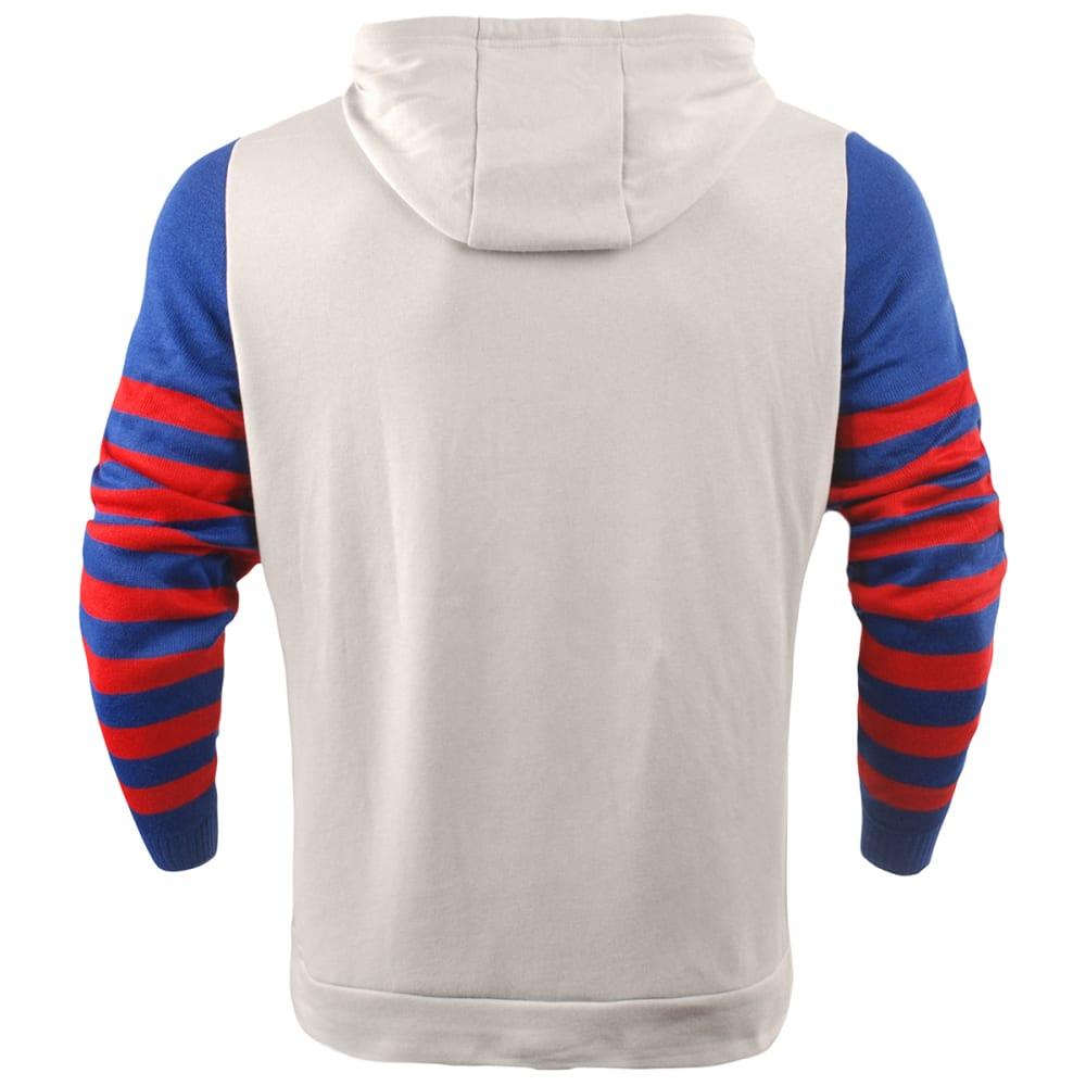 NEW YORK GIANTS Men's Stripe Knit Sleeve Hoodie - ROYAL BLUE