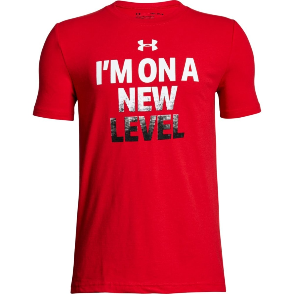 Under Armour Big Boys' Ua I'm On A New Level Short-Sleeve Tee - Red, XL