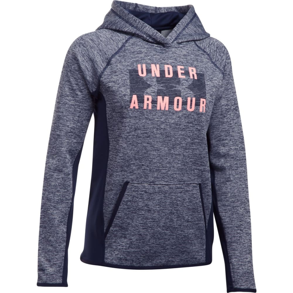UNDER ARMOUR Women's Storm Armour Fleece Big Logo Twist Hoodie - MDN/CORAL-410