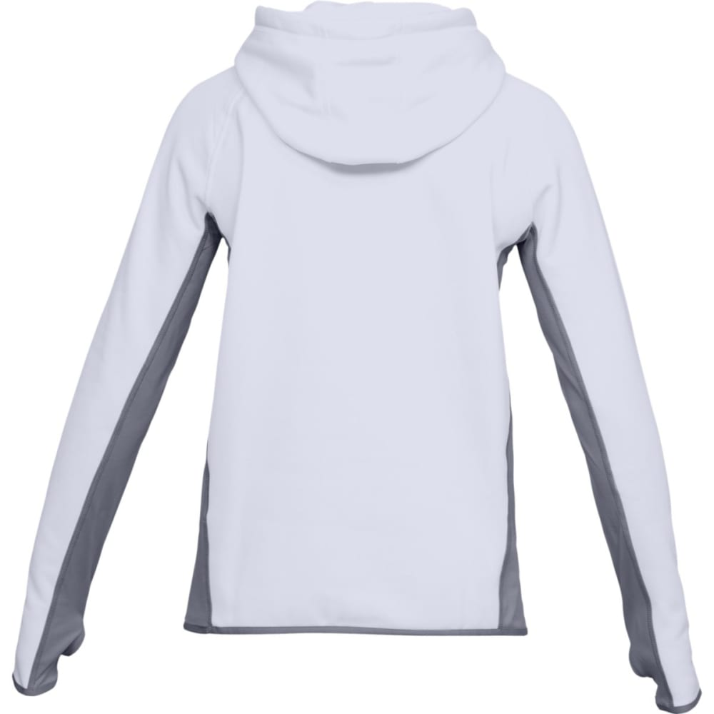 UNDER ARMOUR Women's UA Storm Armour Fleece Big Logo Pullover Hoodie - WHITE/CORAL-100