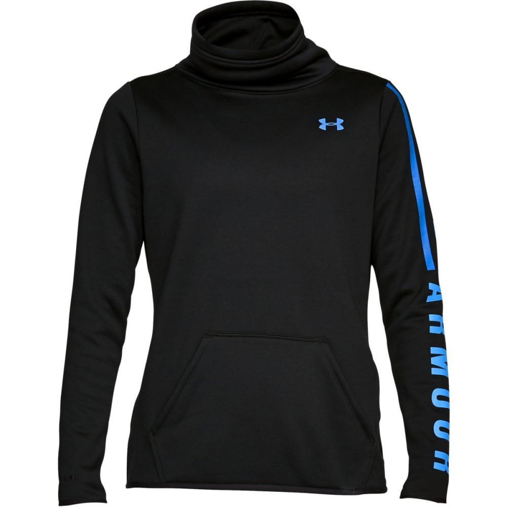 UNDER ARMOUR Women's Armour Fleece Graphic Pullover - BLACK/MAKO BLUE-001
