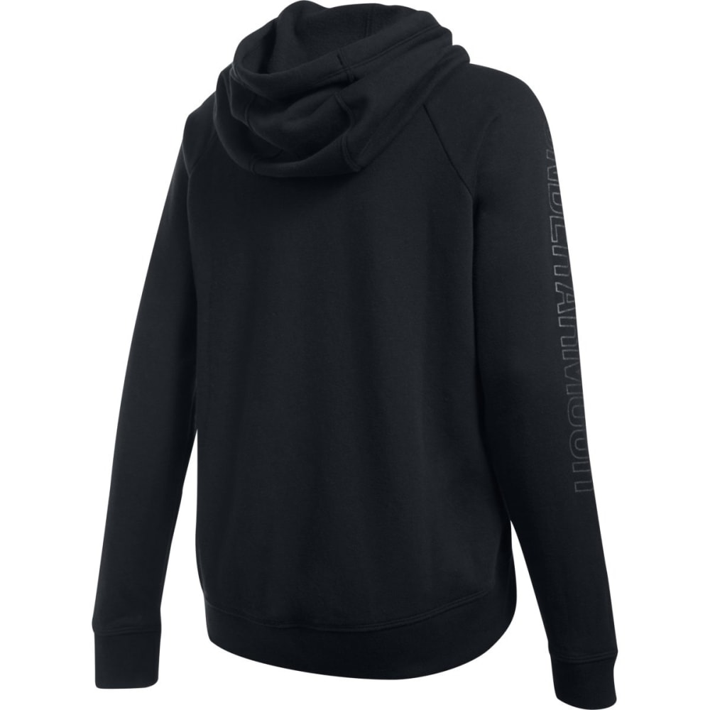 UNDER ARMOUR Women's Metallic Logo Favorite Fleece Hoodie - BLACK-001