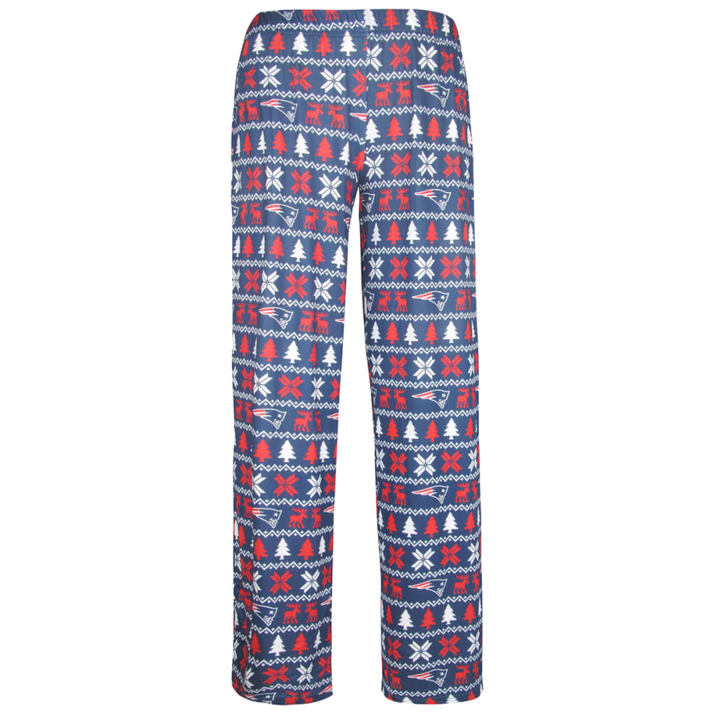 NEW ENGLAND PATRIOTS Men's Holiday Polyester Print Pants - NAVY