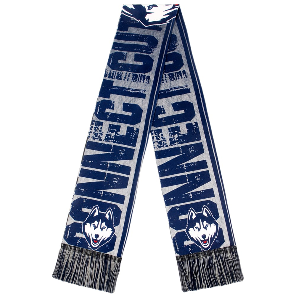 UCONN 2017 Printed Big Logo Scarf - NAVY/RED