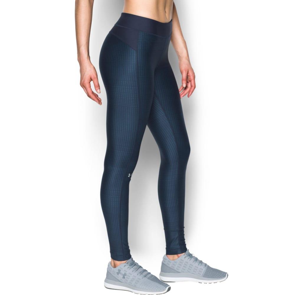 UNDER ARMOUR Women's UA HeatGear Armour Printed Leggings - MDN/BAYOU BLUE-413