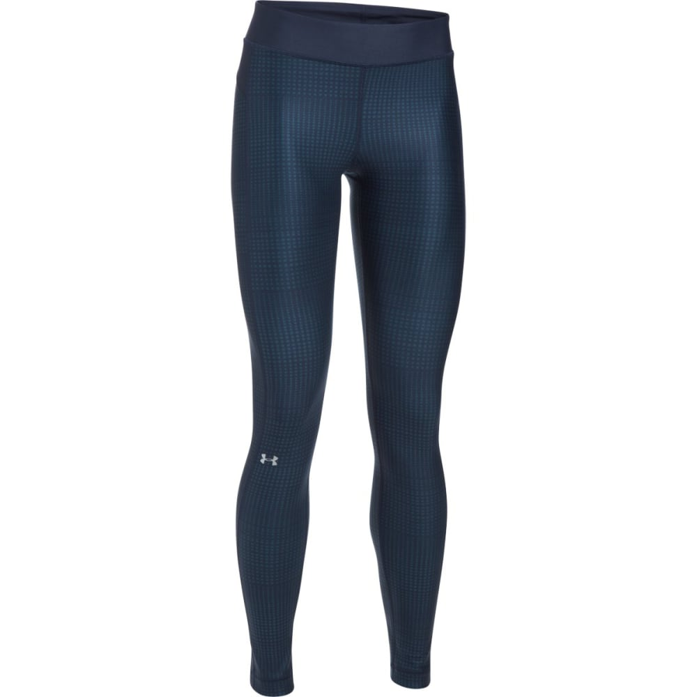 UNDER ARMOUR Women's UA HeatGear Armour Printed Leggings - MDN/BAYOU BLUE-413