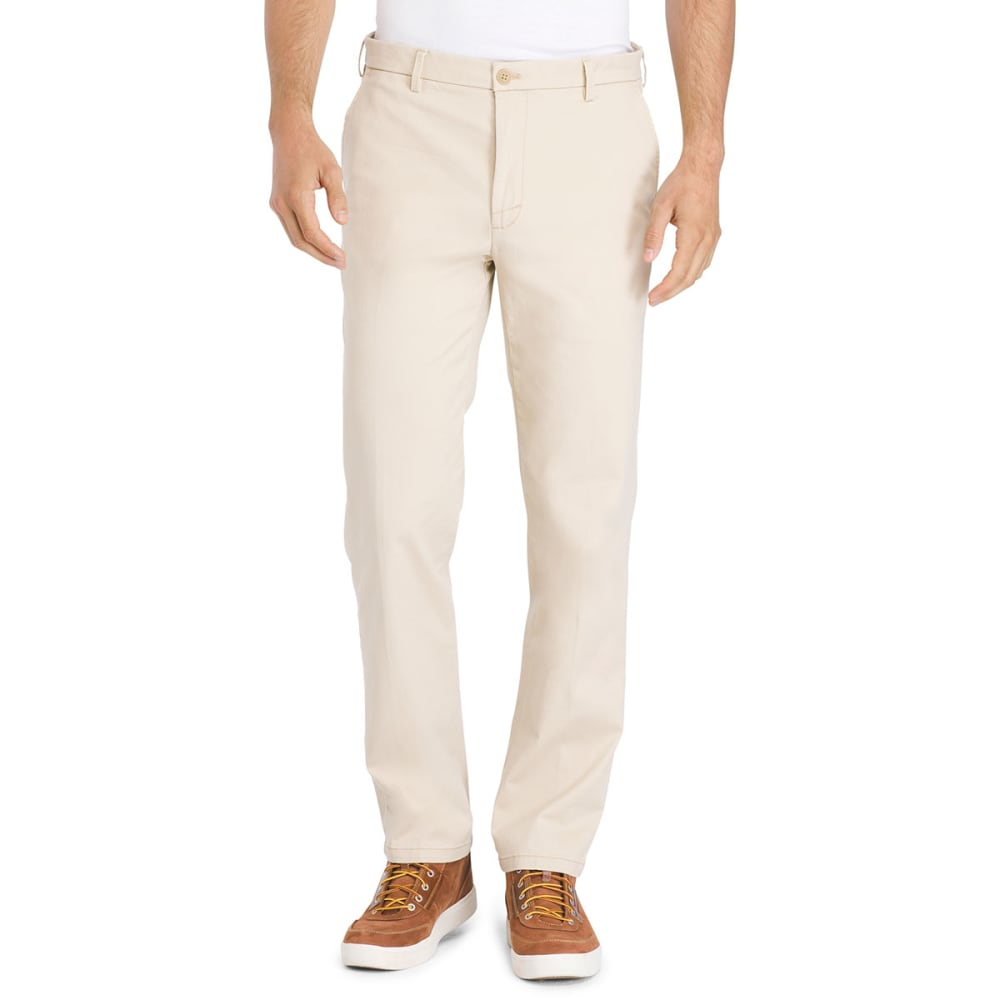 IZOD Men's Flat Front Saltwater Straight-Fit Stretch Chino Pants - PALE KHAKI-272