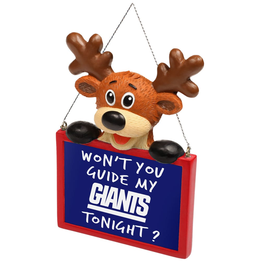 NEW YORK GIANTS Reindeer Sign Ornament - NO COLOR