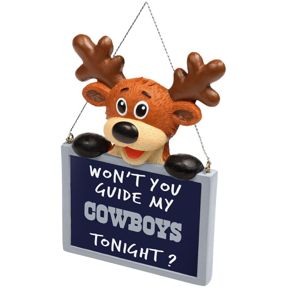 DALLAS COWBOYS Reindeer Sign Ornament - NO COLOR