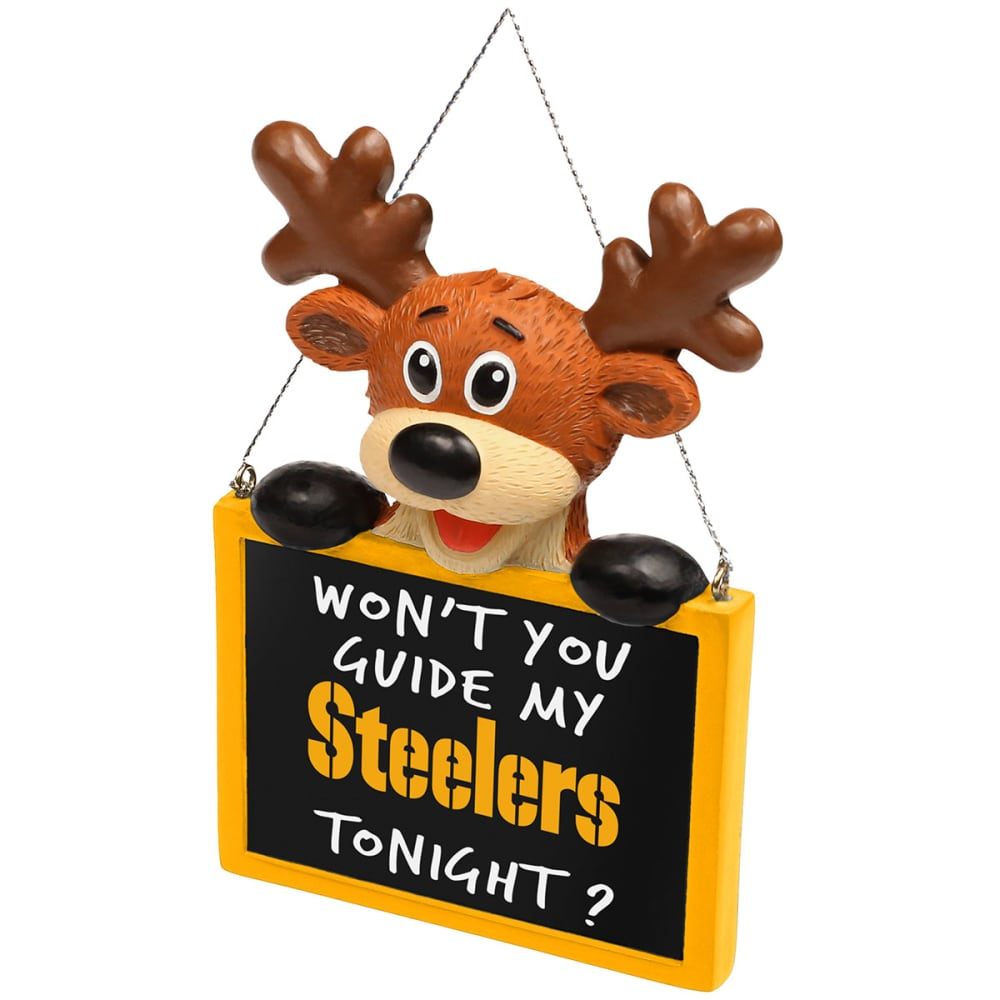 PITTSBURGH STEELERS Reindeer Sign Ornament - NO COLOR
