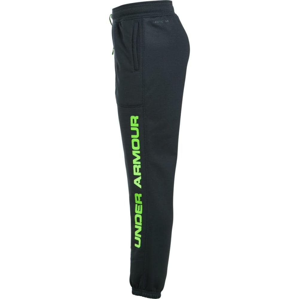 UNDER ARMOUR Big Boys' Armour® Fleece Branded Jogger Pants - 016-ANTHRACITE/QLIME