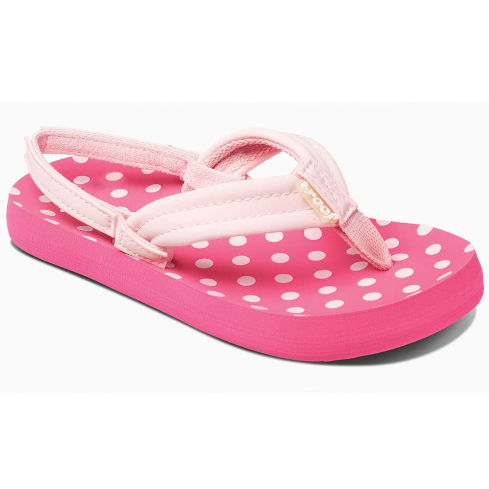 REEF Girls' Little Ahi Sandals, Pink Polka Dots - PINK
