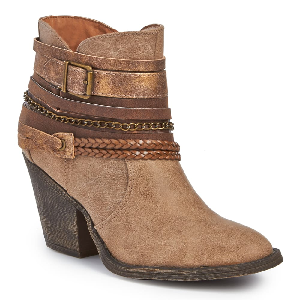 JELLYPOP Women's Jared Belted Booties, Sand - SAND