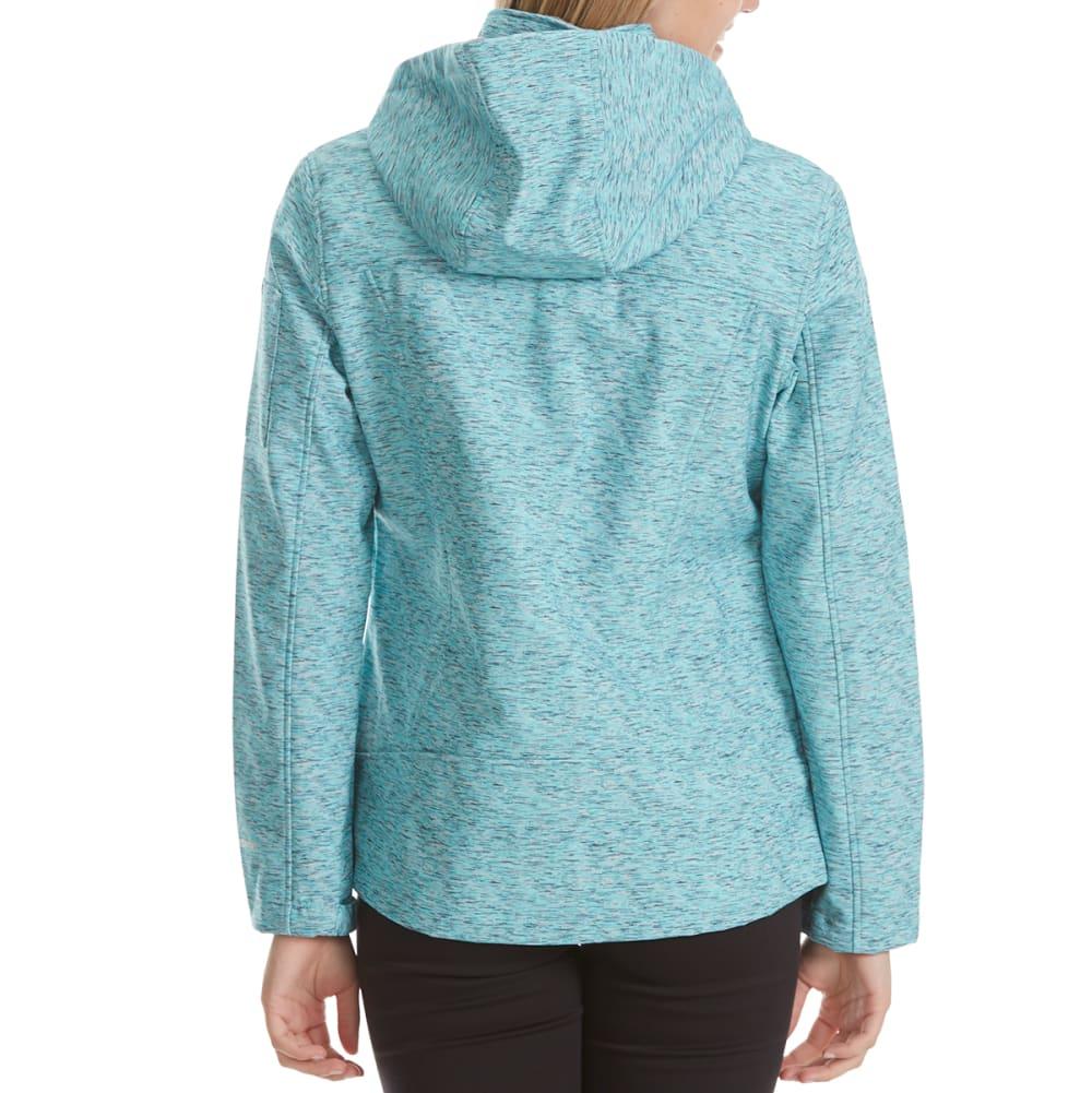 FREE COUNTRY Women's Short Hooded Soft Shell Jacket - SUBTLE AQUA