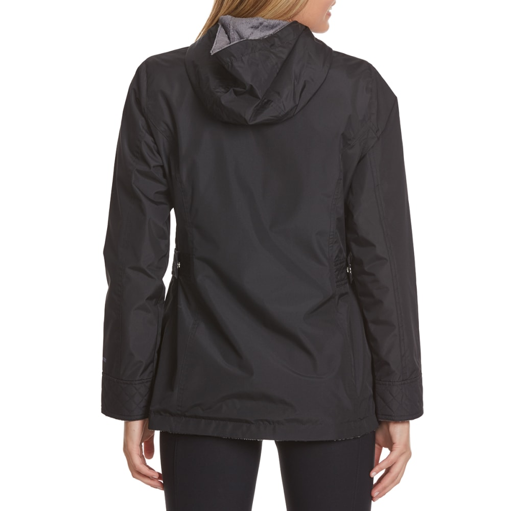 FREE COUNTRY Women's Radiance Anorak Jacket - BLACK/MIN GREY