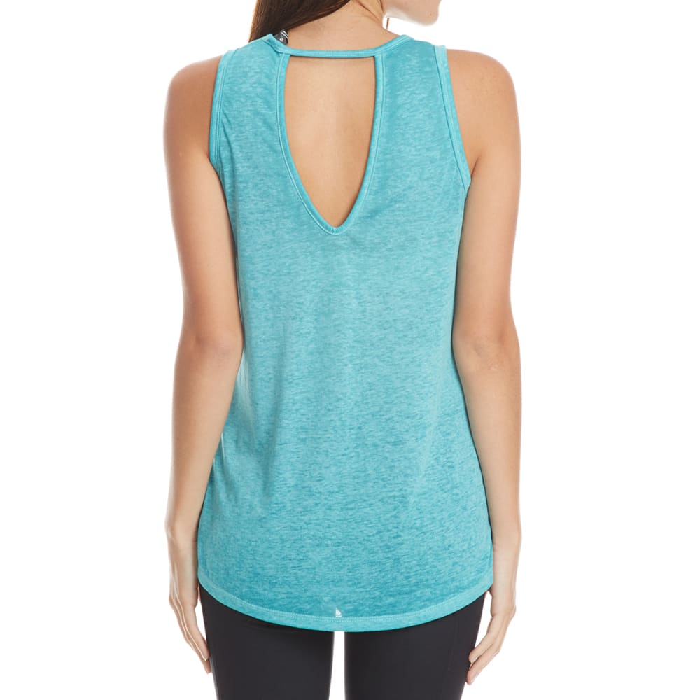 RBX Women's Poly/Cotton Burnwash Tank Top - JADED-C