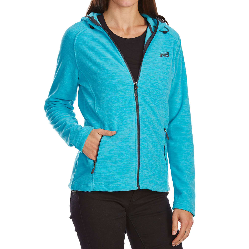 NEW BALANCE Women's Fleece Space-Dye Hoodie - SEA SPRAY-PT284